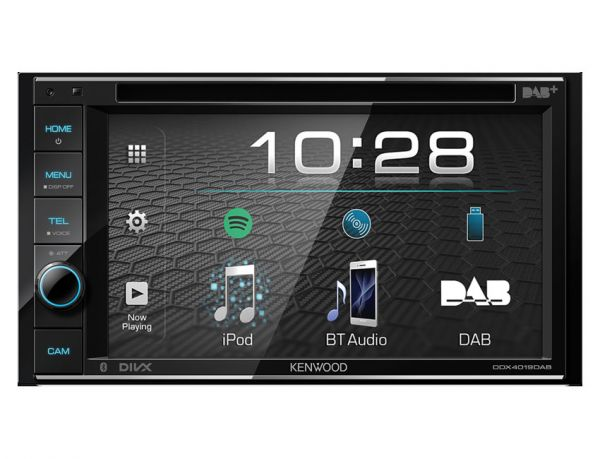 Kenwood DDX4019DAB - 2-DIN Multimedia-Monitor mit Bluetooth, DAB+
