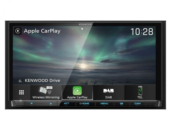 Kenwood DMX8019DABS - 2-DIN Moniceiver mit Apple CarPlay, Android-Auto, DAB+