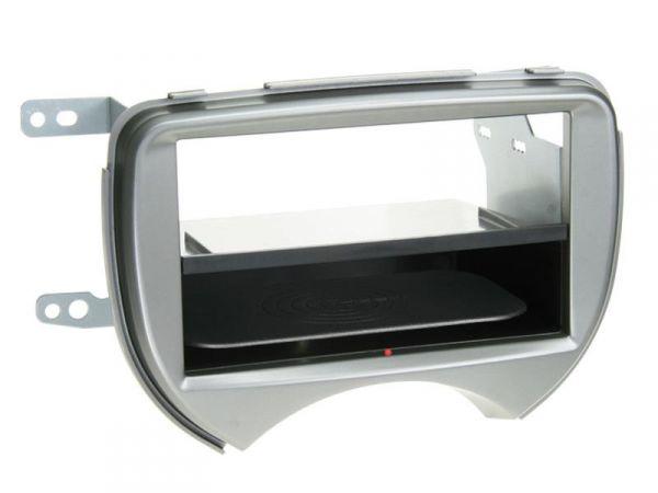 2-DIN RB Inbay® Nissan Micra silber ab 2010 - Qi-Standard