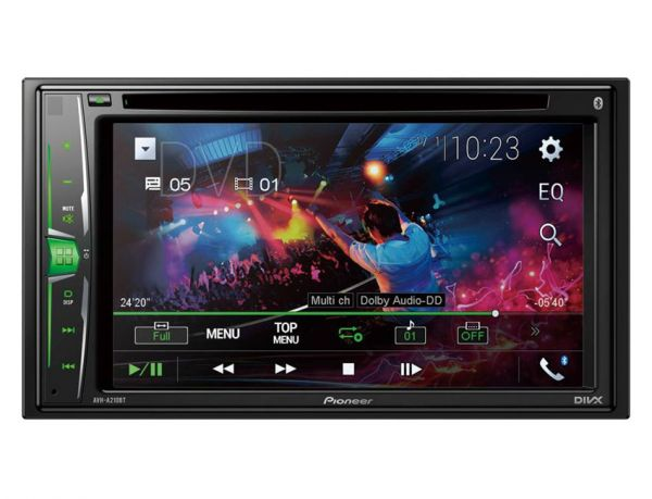 Pioneer AVH-A210BT - 2-DIN Monitor mit Bluetooth, USB, CD-/DVD