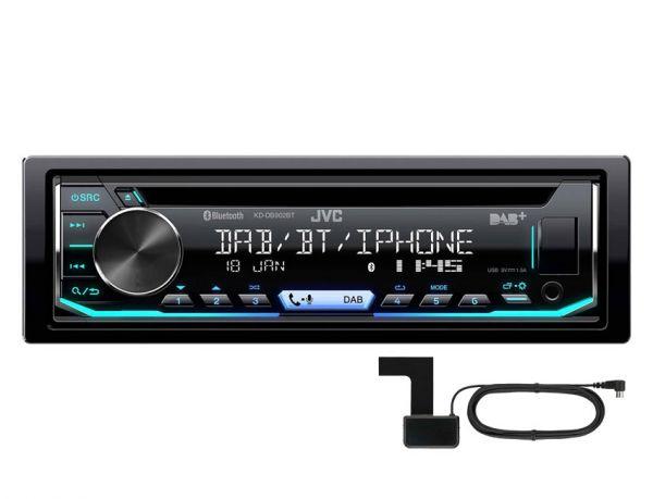 JVC KD-DB902BT - Autoradio mit DAB+, Bluetooth, USB - inkl. DAB+ Antenne