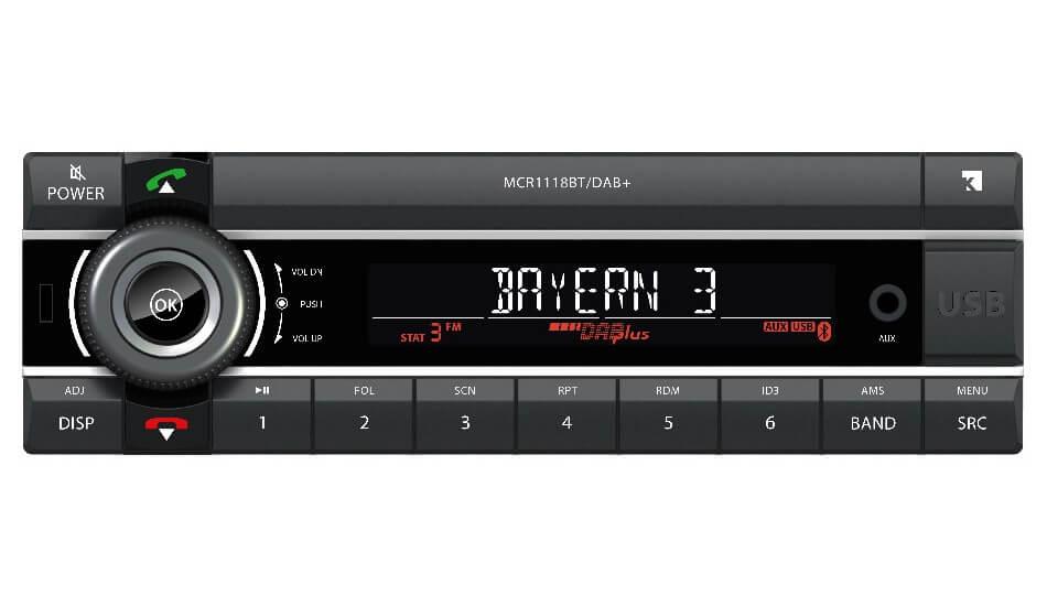 axion mcr 1118 dab autoradio ohne cd laufwerk mit dab. Black Bedroom Furniture Sets. Home Design Ideas