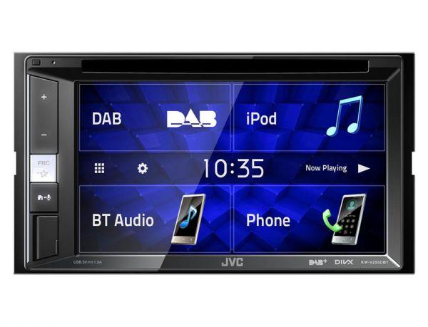 JVC KW-V255DBT - 2-DIN Multimedia-Monitor mit Bluetooth und DAB+ (inkl. Antenne)
