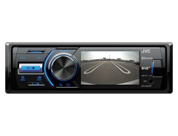 """JVC KD-X561DBT - Autoradio mit DAB+ und 3,5"""" TFT für Rückfahrkamera"""