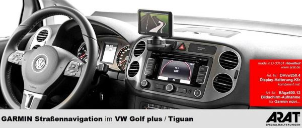 arat display halterung volkswagen golf plus tiguan. Black Bedroom Furniture Sets. Home Design Ideas