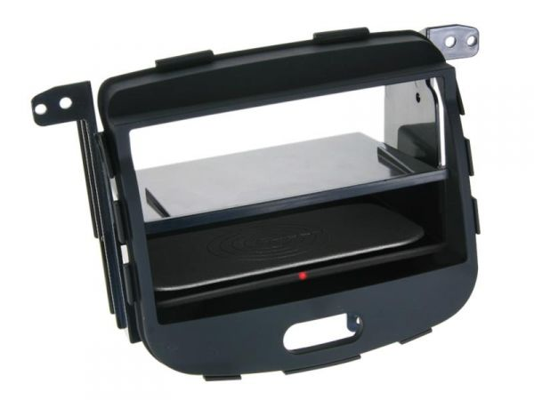 2-DIN RB Inbay® gummiert Hyundai i10 schwarz ab 2008 - Qi-Standard