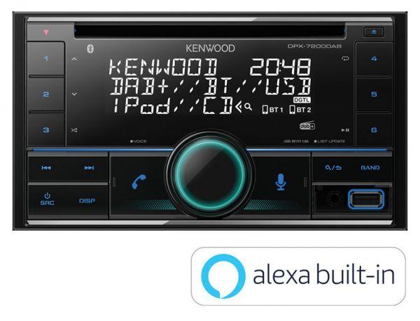 Kenwood DPX-7200DAB - Autoradio mit DAB+, Alexa, Bluetooth, USB, Remote App