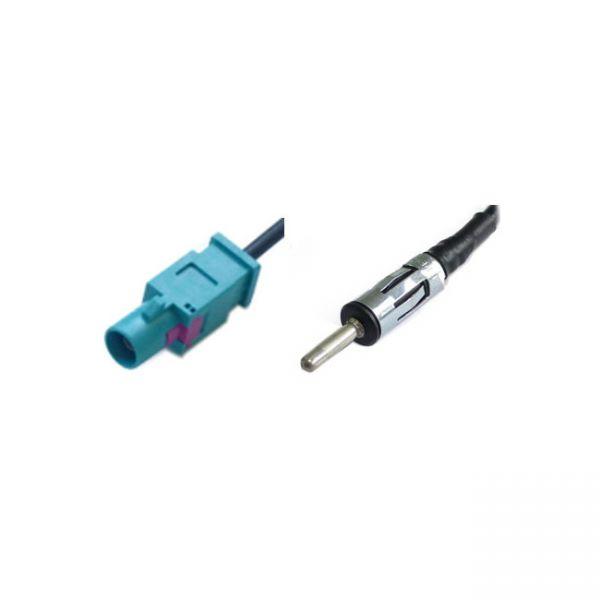 Antennenkabel / Verlängerung 5m - RG 174, FAKRA(m) - 150 Ohm Stecker für FM