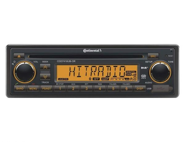 Continental CDD7418UB-OR CD-Tuner/AUX/USB/Bluetooth/DAB+