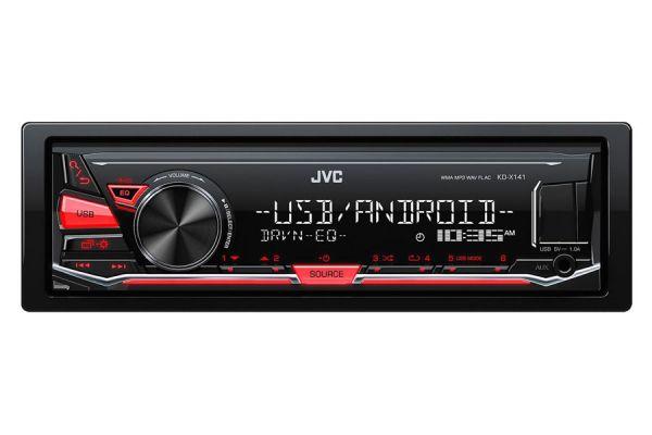 JVC KD-X141 - Autoradio ohne CD-Laufwerk mit USB/AUX (B-Ware)