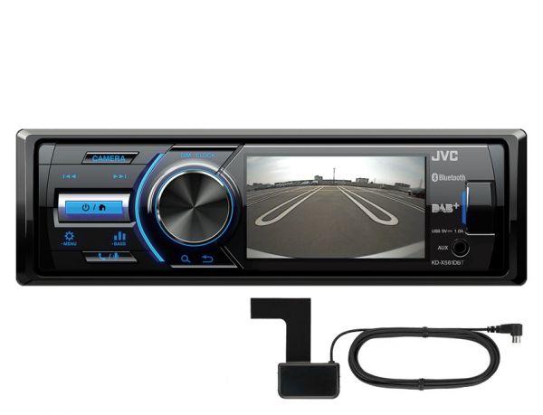 """JVC KD-X561DBT - Autoradio mit DAB+ (inkl. Ant.) und 3,5"""" TFT für Rückfahrkamera"""