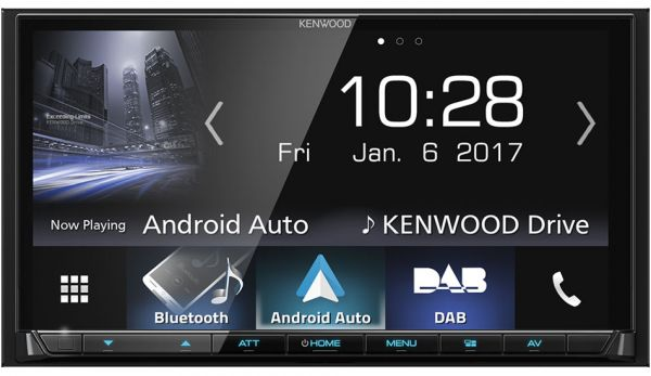 Kenwood DMX7017DABS - 2-DIN Moniceiver mit Apple CarPlay, Android-Auto, DAB+