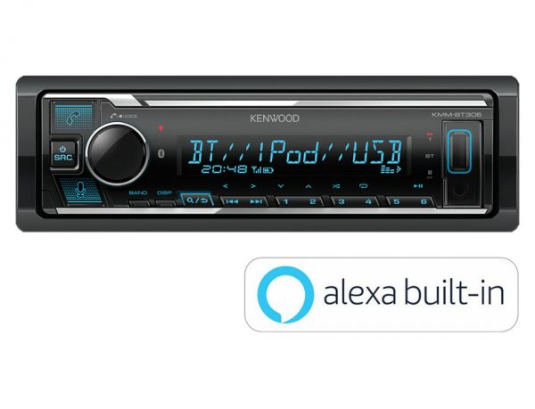 Kenwood KMM-BT306 - Autoradio mit Amazon Alexa, Bluetooth, USB, Remote App