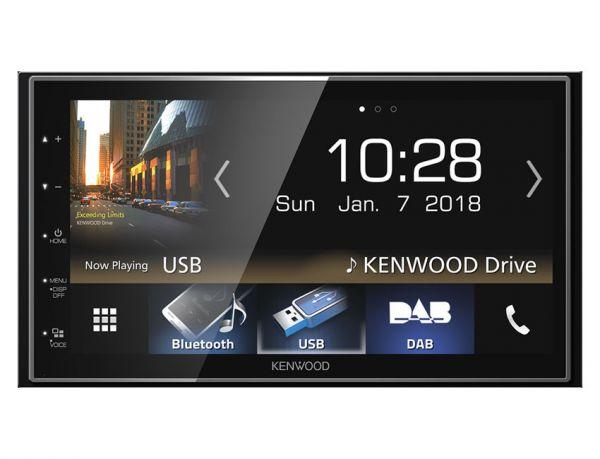 Kenwood DMX7018DABS - 2-DIN Moniceiver mit Apple CarPlay, Android-Auto, DAB+