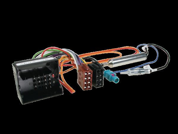 ISO-Adapter Citroen, Peugeot mit Phantomeinspeisung Fakra auf 150 Ohm