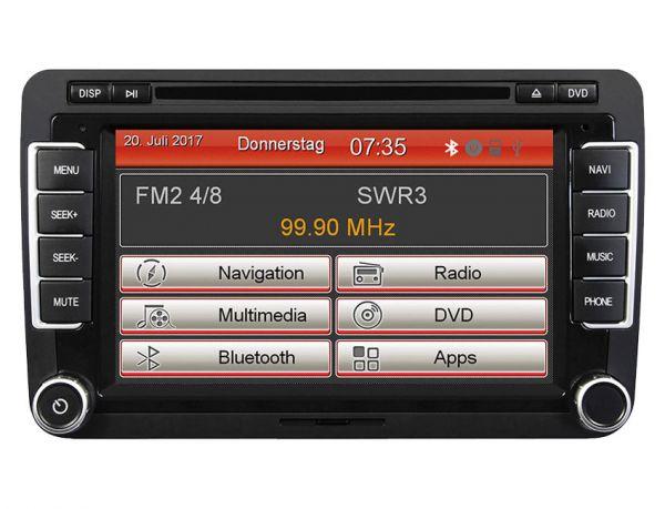 ESX Naviceiver VN735-VO-U1 - 2-DIN Autoradio für Volkswagen/Seat/Skoda