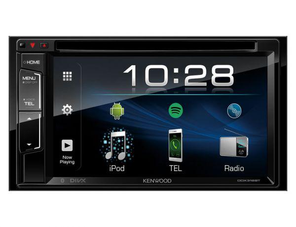 Kenwood DDX318BT - 2-DIN Multimedia-Monitor mit Bluetooth