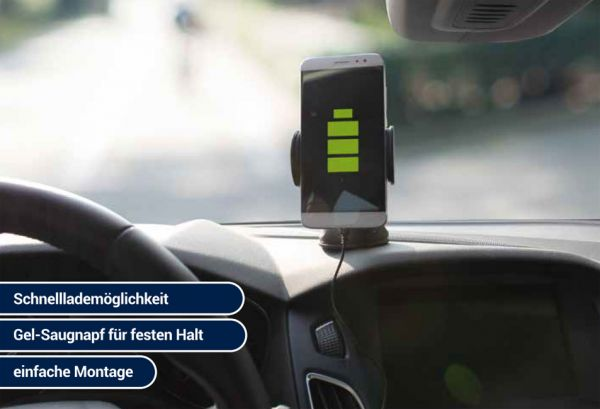 Seecode Qi Universal Handyhalter - 5 /10 Watt - 55 - 85mm