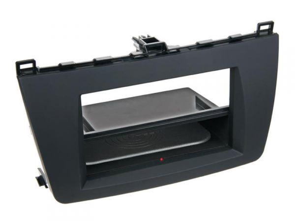 2-DIN RB Inbay® gummiert Mazda 6 schwarz ab 2008 - Qi-Standard