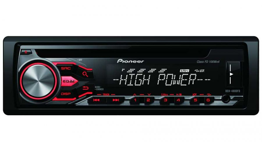 pioneer deh 4800fd autoradio mit 4x100 watt max. Black Bedroom Furniture Sets. Home Design Ideas